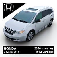 2011 honda odyssey minivan 3d 3ds