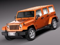3d 2010 2013 suv jeep wrangler model