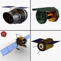 3d satellites 2 model