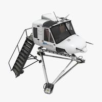 3d model bell 412 simulator