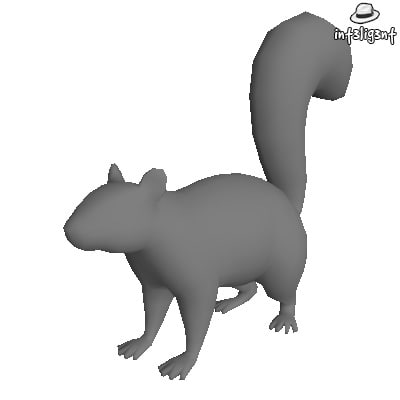 Low Poly Squirrel