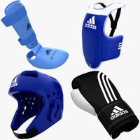 3d model of taekwondo equipment