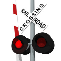 Train / Railroad Crossing Sign: C4D Format