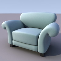 sofa armchair 3d 3ds