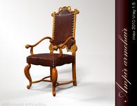 3d armchair ampir