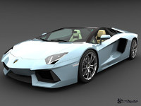 lamborghini aventador lp700-4 roadster 3d model