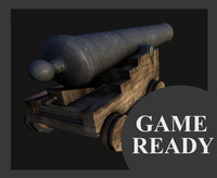 3d model cannon ready