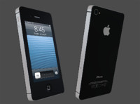 iphone 4s phone 3d model