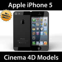 c4d apple iphone 5 black