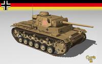 3d german tank iii