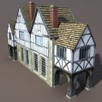 maya building exterior modelled