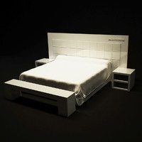 3d model versace bed home furniture