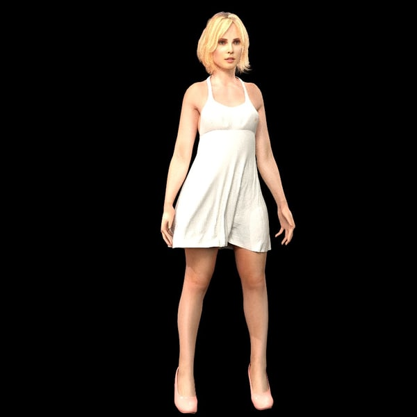 3d model of blonde - photo #10