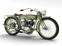 3d model harley-davidson 11j 1915 motorcycle