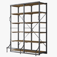 3d french library shelving