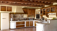 Country Kitchen (traditional tuscan italian style kitchen) interior