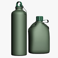 army bottles 3d 3ds