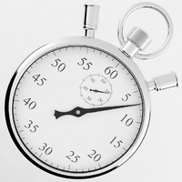 3d model stopwatch watch