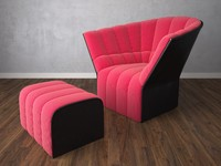 3d chair armchair ligne model