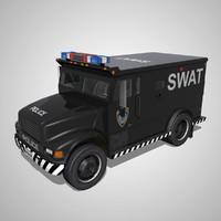 3d model armoured truck swat