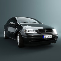 opel astra g car 3d 3ds