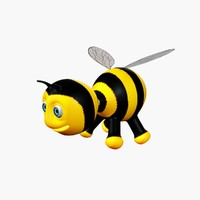 3d cartoon bee model