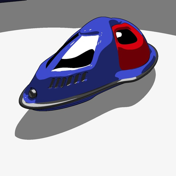 free futuristic hovercraft 3d model - Hovercraft... by MP Design