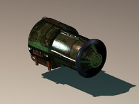 3d model turrets generators