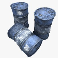 rusty oil barrels 3d x