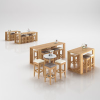 restaurant table 3d 3ds