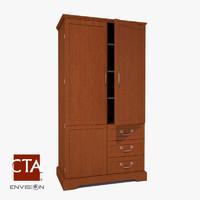 armoire wardrobe 3d max