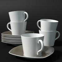 3d model tea cup saucer
