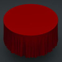 Round Metal Table & Simulated Table Cloth