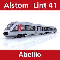 lint passenger train abellio 3d model