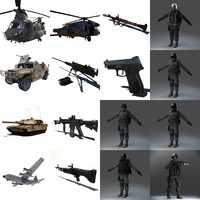 3d military pack model