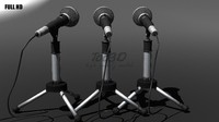 mic microphone 3d obj