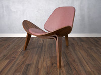 3d armchair chair wooden model