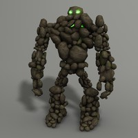 3d model rock monster