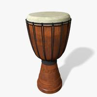djembe drum 3d model