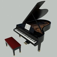 piano instrument keyboard 3d model