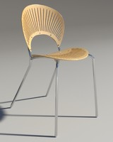3d chair trinitad style wood model