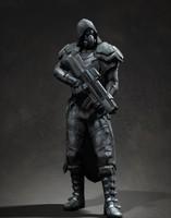 3d model soldier assassin alien