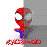 3d model spider kid