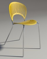3ds max chair trinitad style yellow