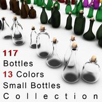3d model bottles