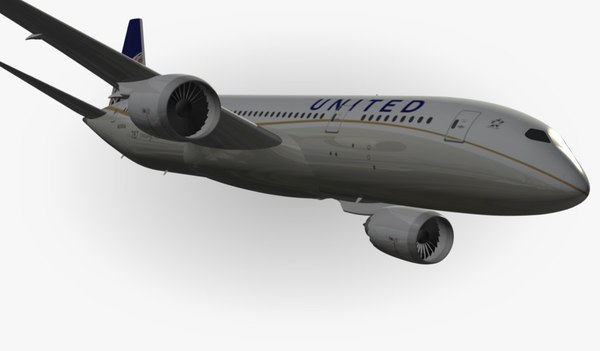 3ds max boeing 787 united airlines - Boeing 787 United Airlines... by EGPJET3D