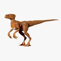 3d model raptor lizard predator
