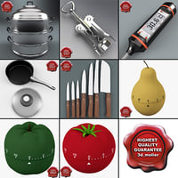 kitchen tools v2 3d c4d
