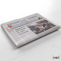 newspaper financial 3d model