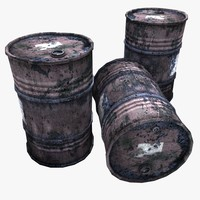 Very Rusty Gasoline Barrels